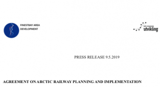 Press release Agreement on Arctic railway planning and implementation