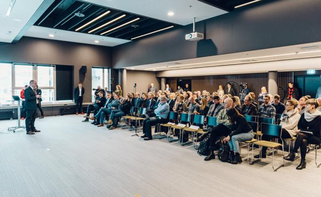 Audience at monthly update in Tallinn